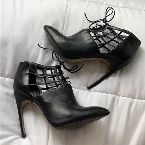 SERGIO ROSSI Caged Booties